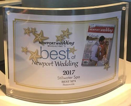 Hyatt Regency Newport, Still Water Spa Best of Newport Award