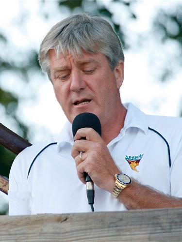 William Crsip Commentating During the Newport International Polo Series