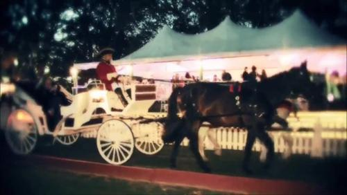 Carriage in the Evening at Newport Polo Club Pavilion
