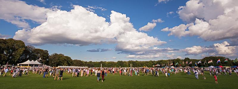 Saturday Crowd Treads In at the Newport International Polo Series
