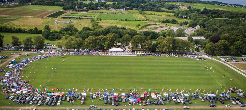 Aerial View of the Newport International Polo Grounds