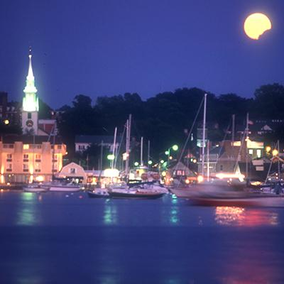 Newport Harbor Moon Rise