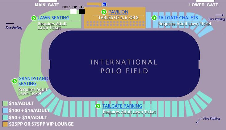 Newport International Polo Series Venue Map