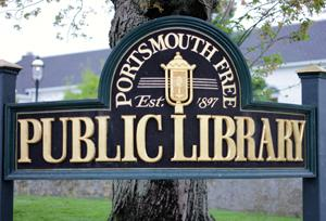 Portsmouth Free Public Library Sign Logo