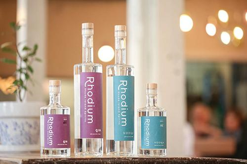 Rhode Island Spirits Gin & Vodka Bottles