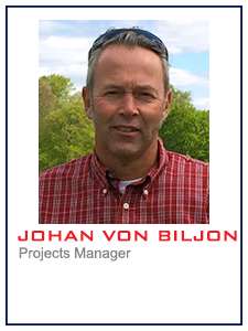 Johan von Biljon, Projects Manager