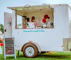 Chelsea's Creamery mobile trailer at a polo match