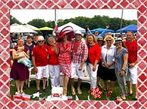 Tailgaters in Red & White