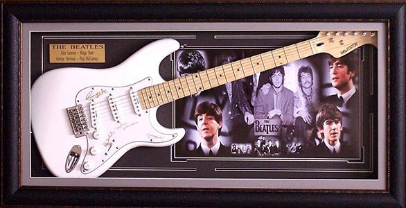 Engraved Beatles Guitar