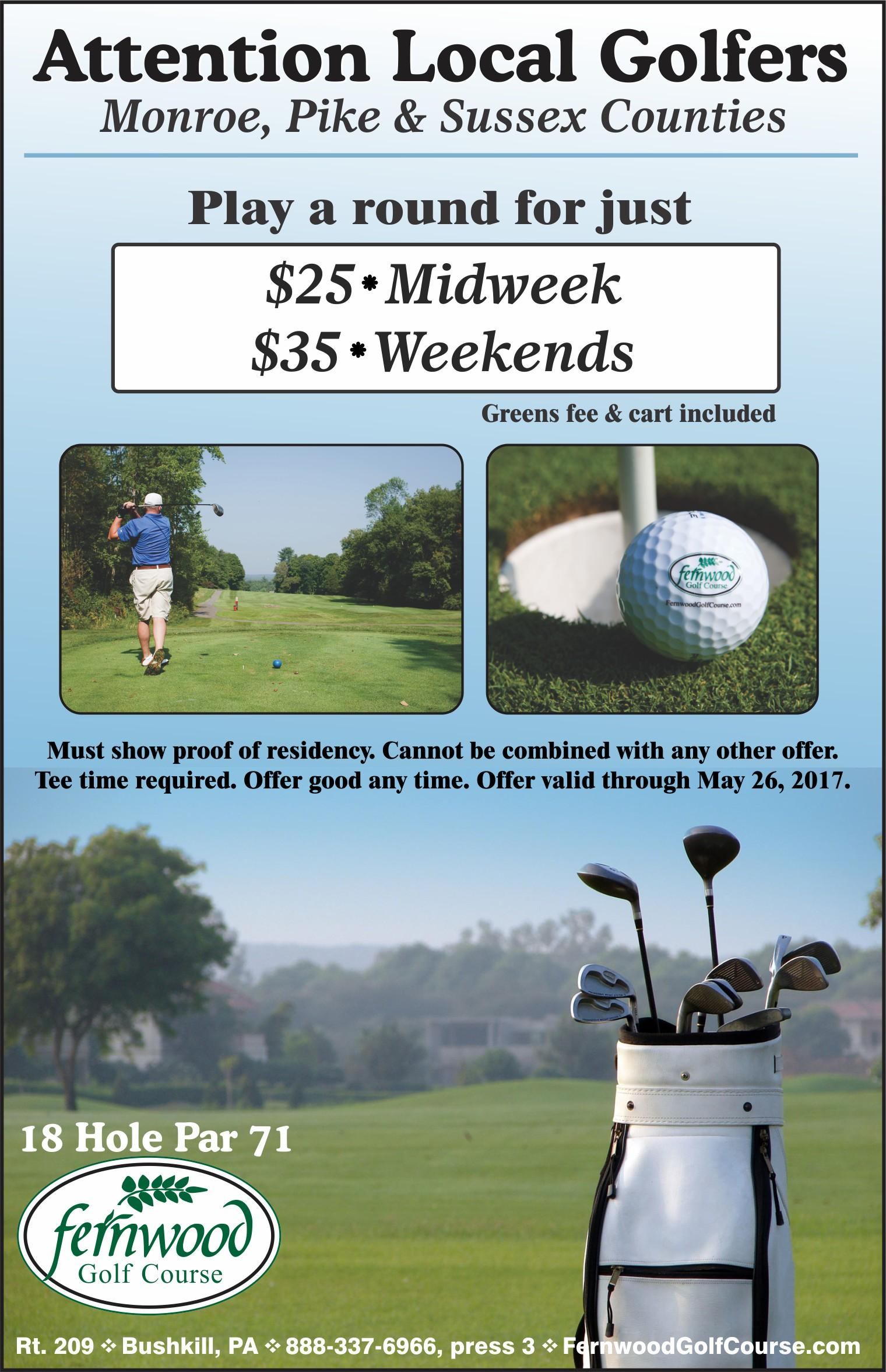 Local Golfers - Monroe, Pike & Sussex Counties