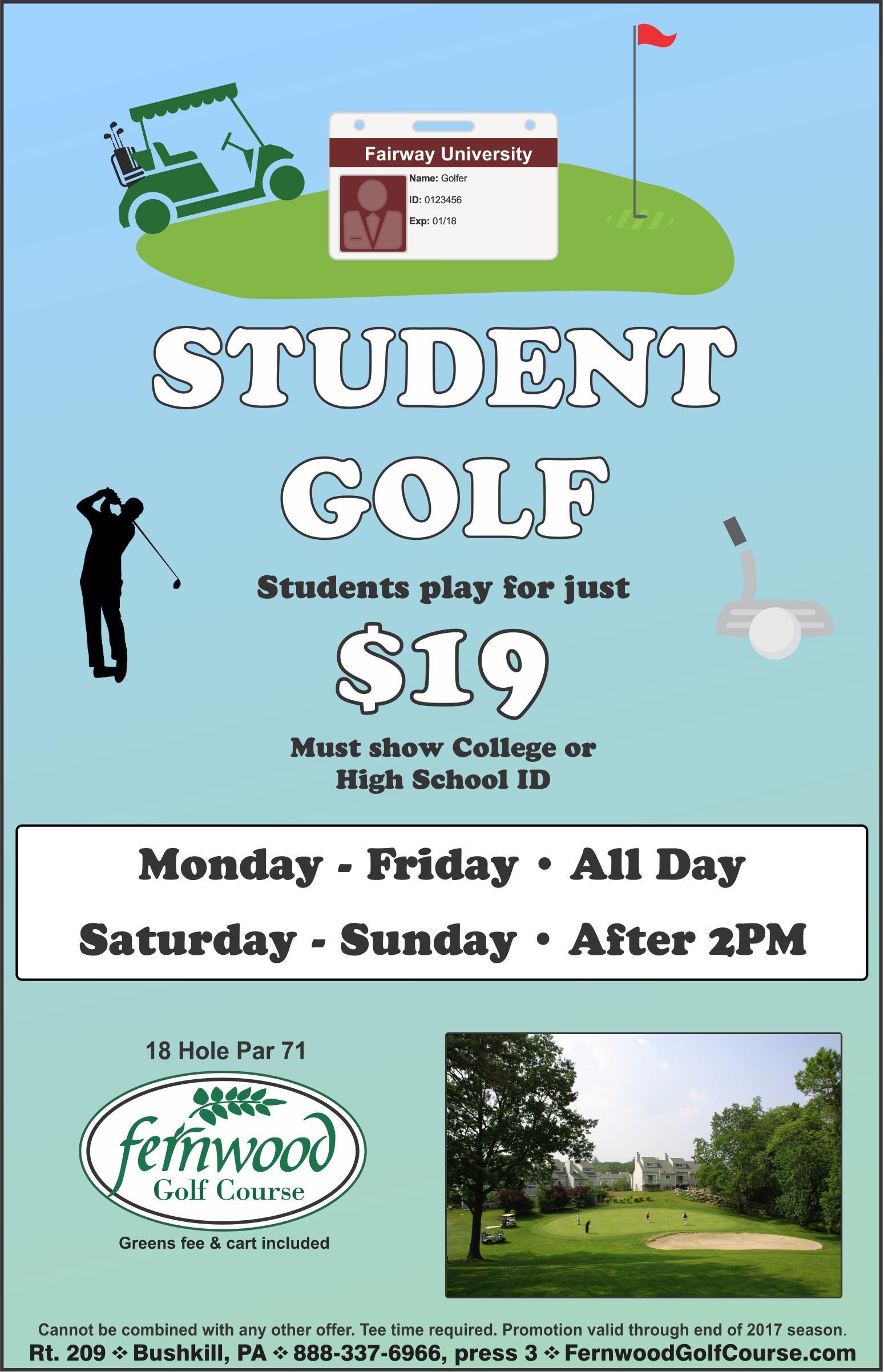 Student Golf - $19