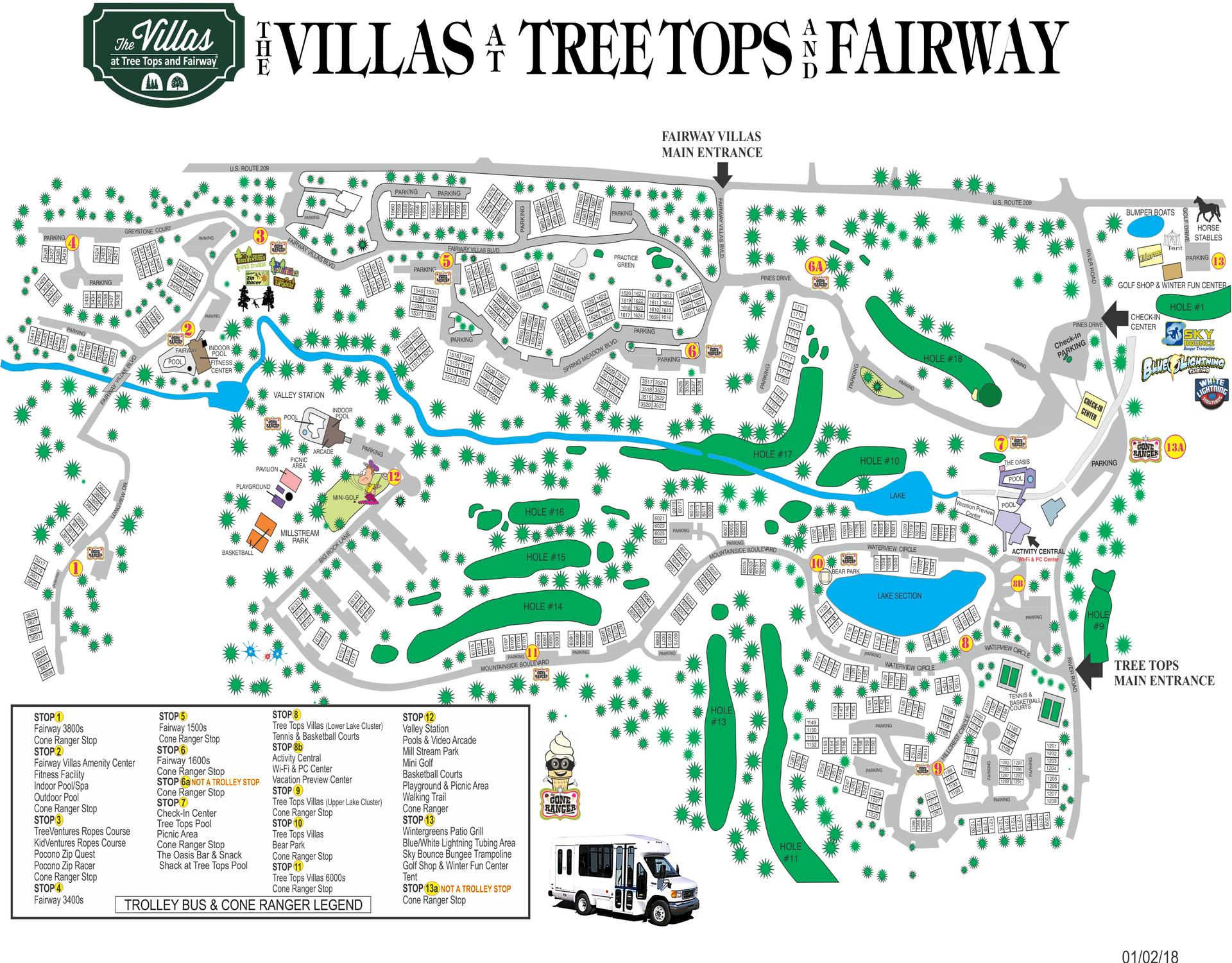 The Villas Resort Property Map