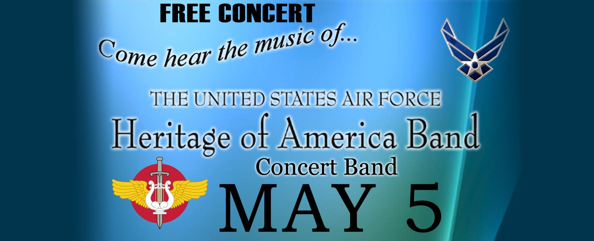 USAF Heritage of America Band **FREE CONCERT**