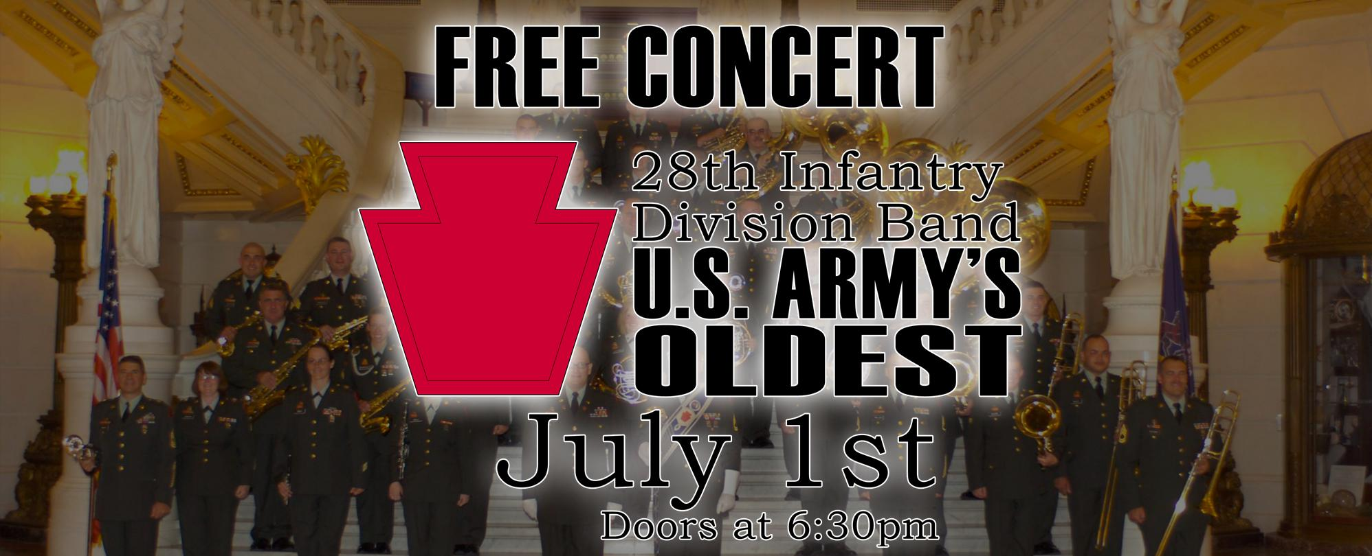 28th Infantry Division Band of the PA Army National Guard **FREE CONCERT**