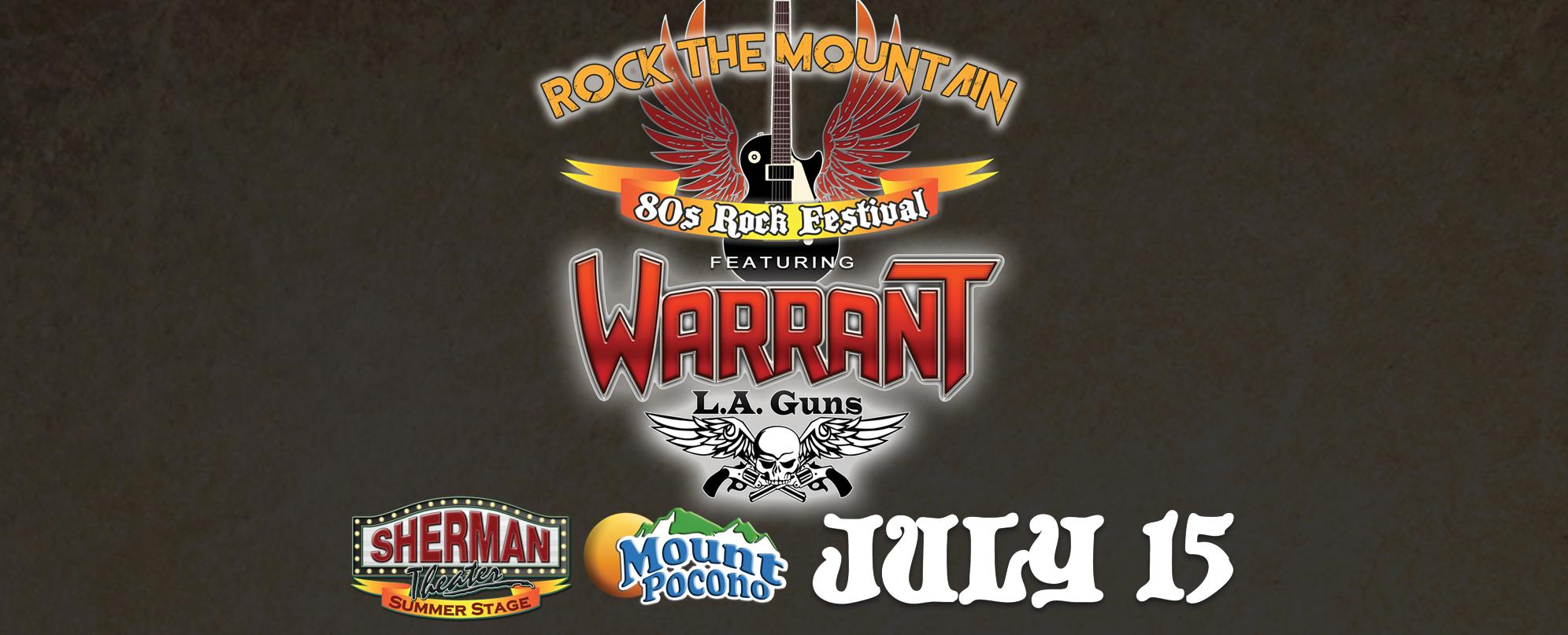 Rock The Mountain 80s Festival ft. Warrant & LA Guns