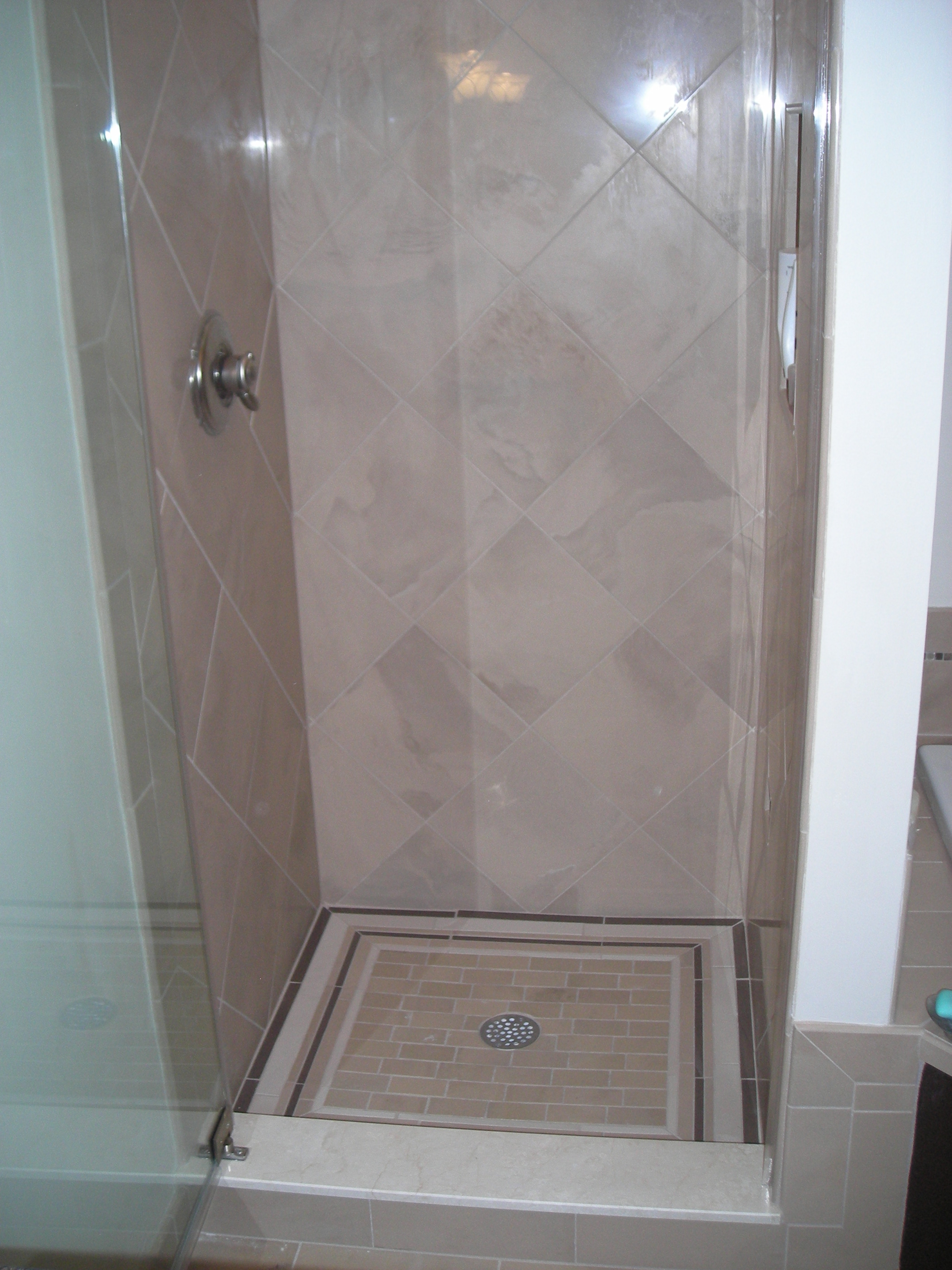 Bath project three tile shower stall pocono modular homes mark of excellence construction Tile shower stalls
