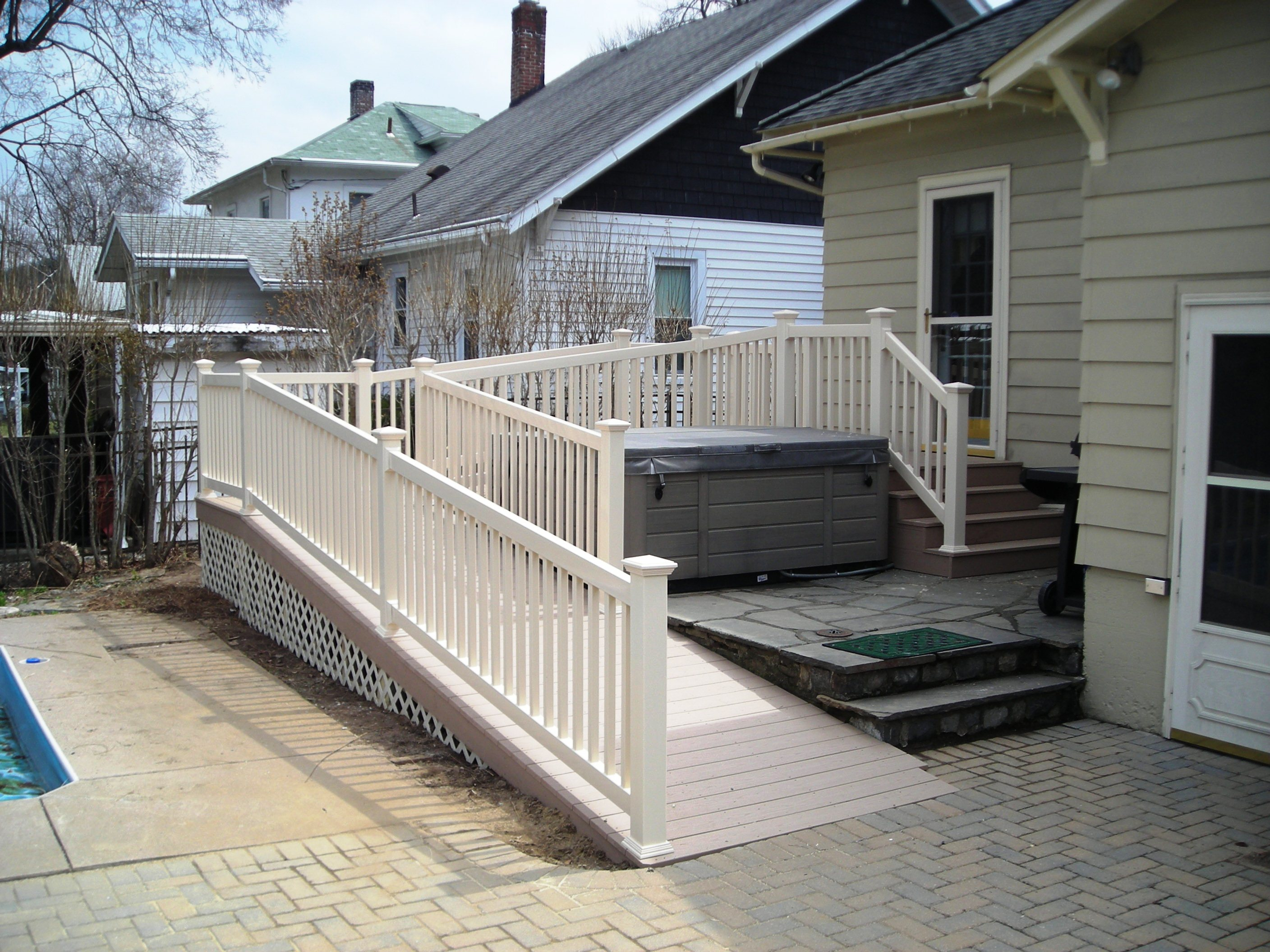 Deck project six 4 feet by 50 feet handicap ramp for Ada mobile homes