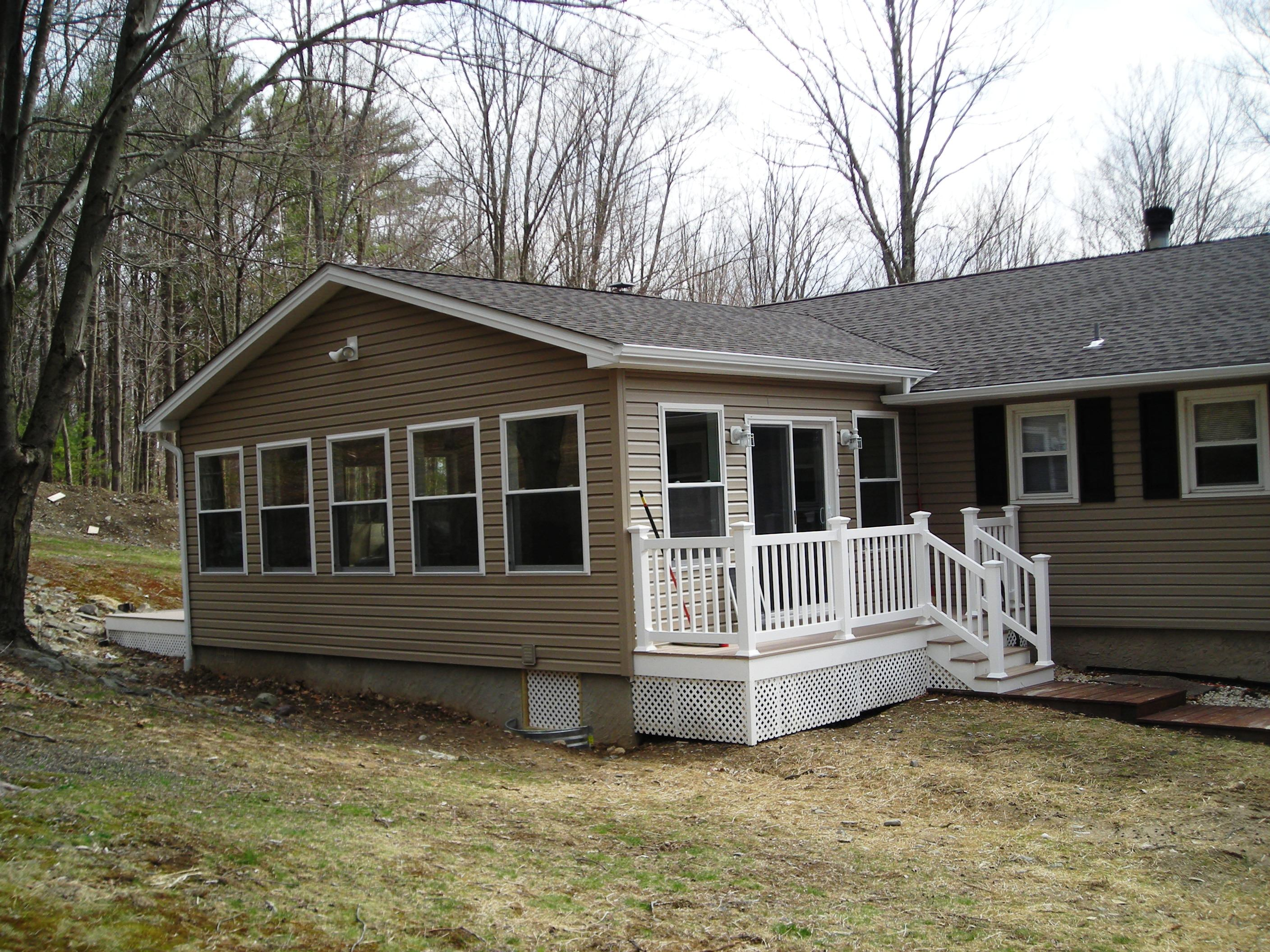 Modular additions for existing homes 28 images prefab for Log cabin sunroom additions