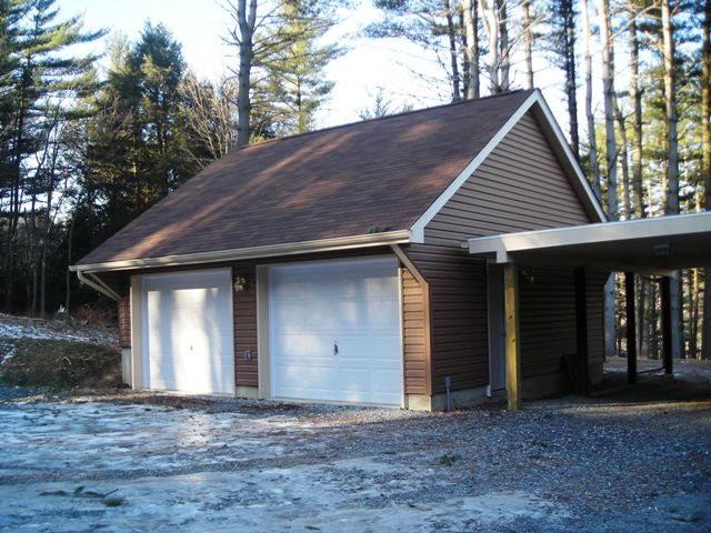 Garage project seven 22 x 22 carriage house pocono for Modular garage addition