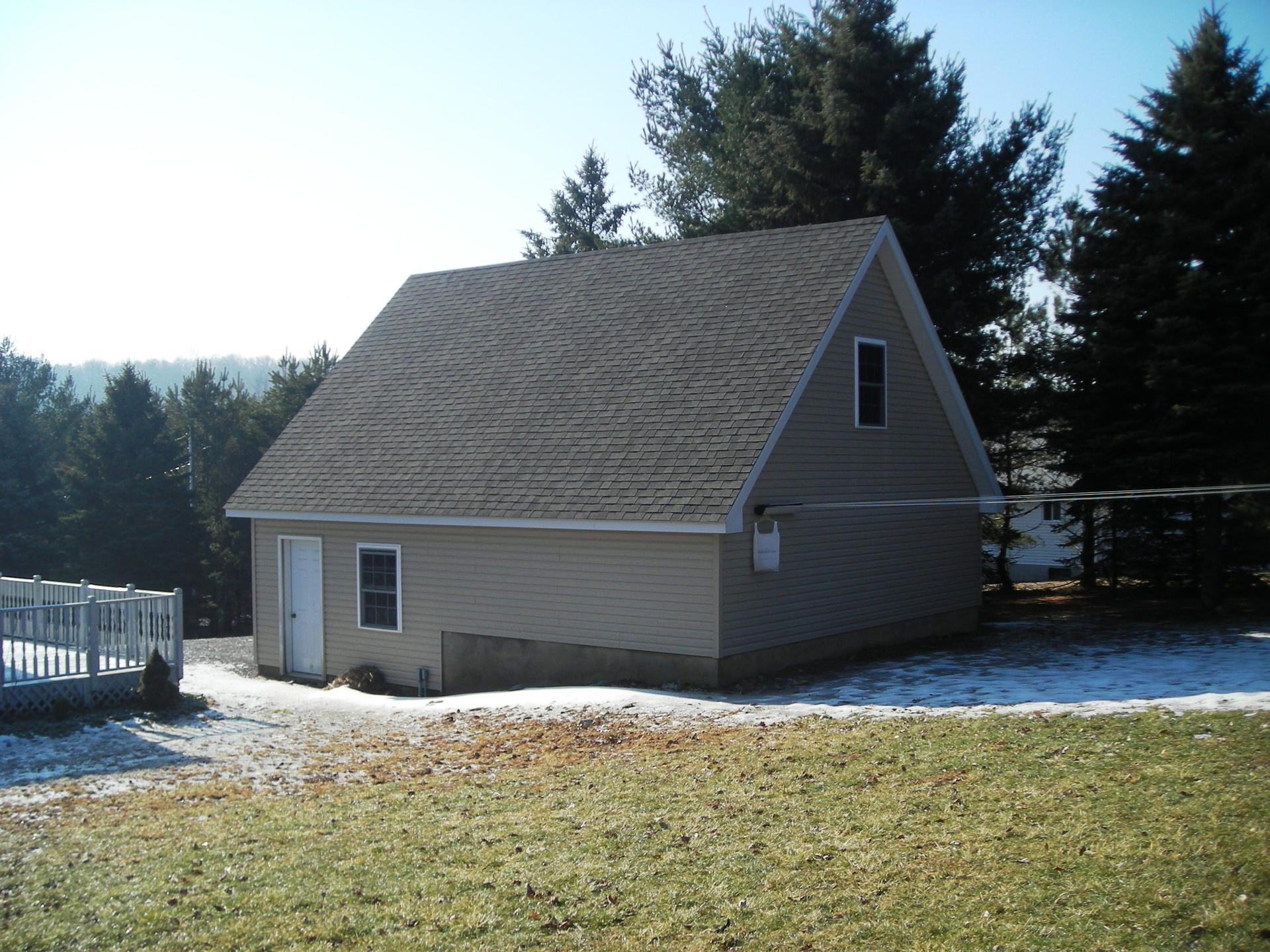 Garage project five 20 x 44 2 story garage pocono for Modular homes with garages