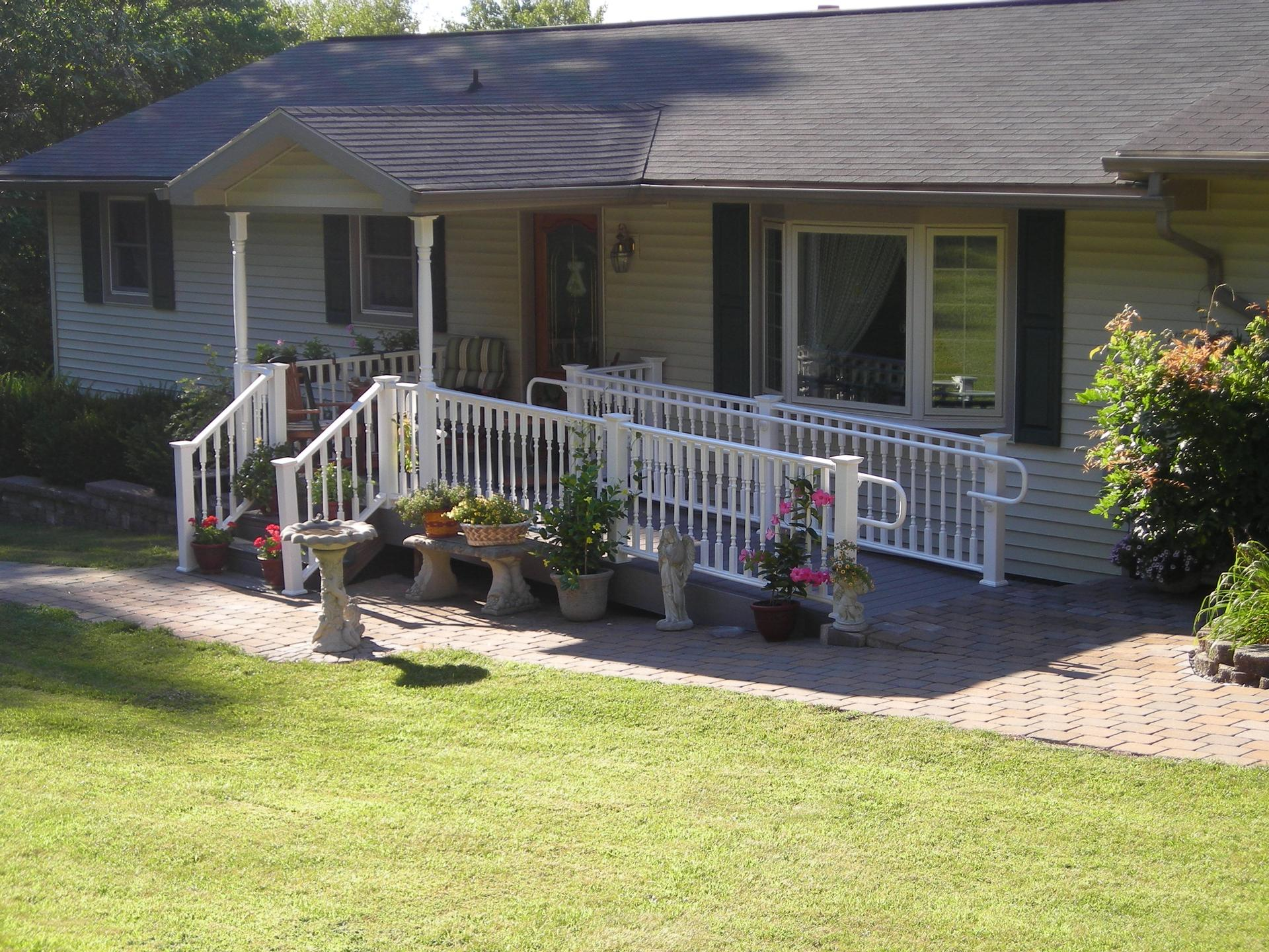 Porches pocono modular homes mark of excellence for Handicapped homes